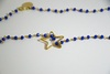 COLLANA CON PIETRE BLU CHINA E CIONDOLO A STELLA
